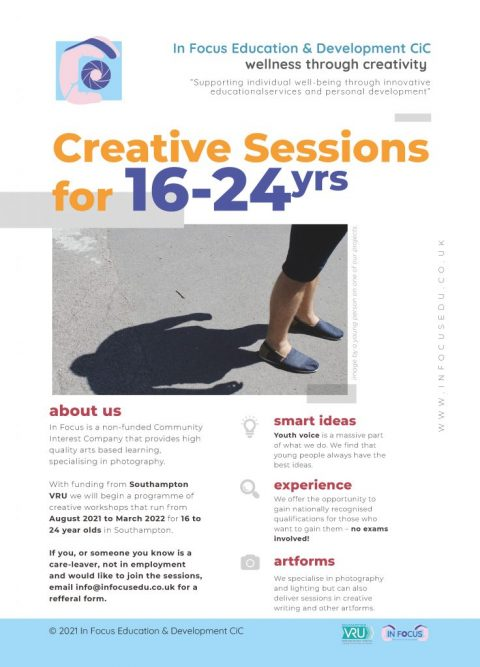 Gaining Important Vocational Skills Through Creative Practices – (Arts Award sessions supported by Southampton VRU)